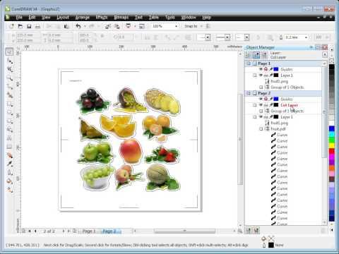 DrawCut PRO - Grafiken und Konturschnitt-Vorlagen aus CorelDraw importieren