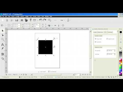 DrawCut LITE - DesignCenter - Lineale, Bemaßung, Gitter etc.