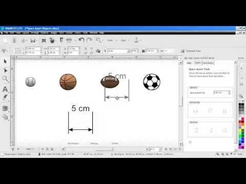 DrawCut LITE - DesignCenter - Ausrichten, Verteilen, Anordnen