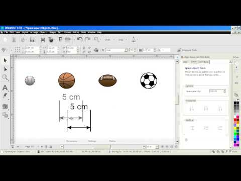 DrawCut LITE - align tools, space apart objects